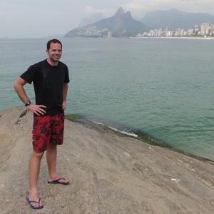 At Ipanema Beach in Rio de Janeiro, Brazil