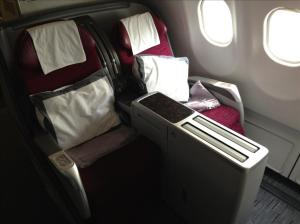 My Business Class window seat for the flight