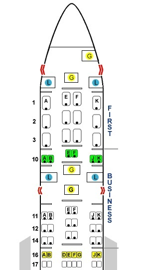 Seat 10A (taken from Seatguru.com)
